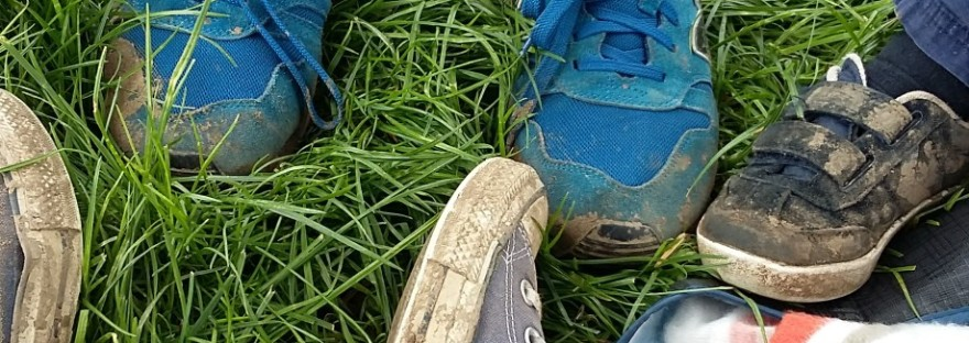 The smelly socks family's feet