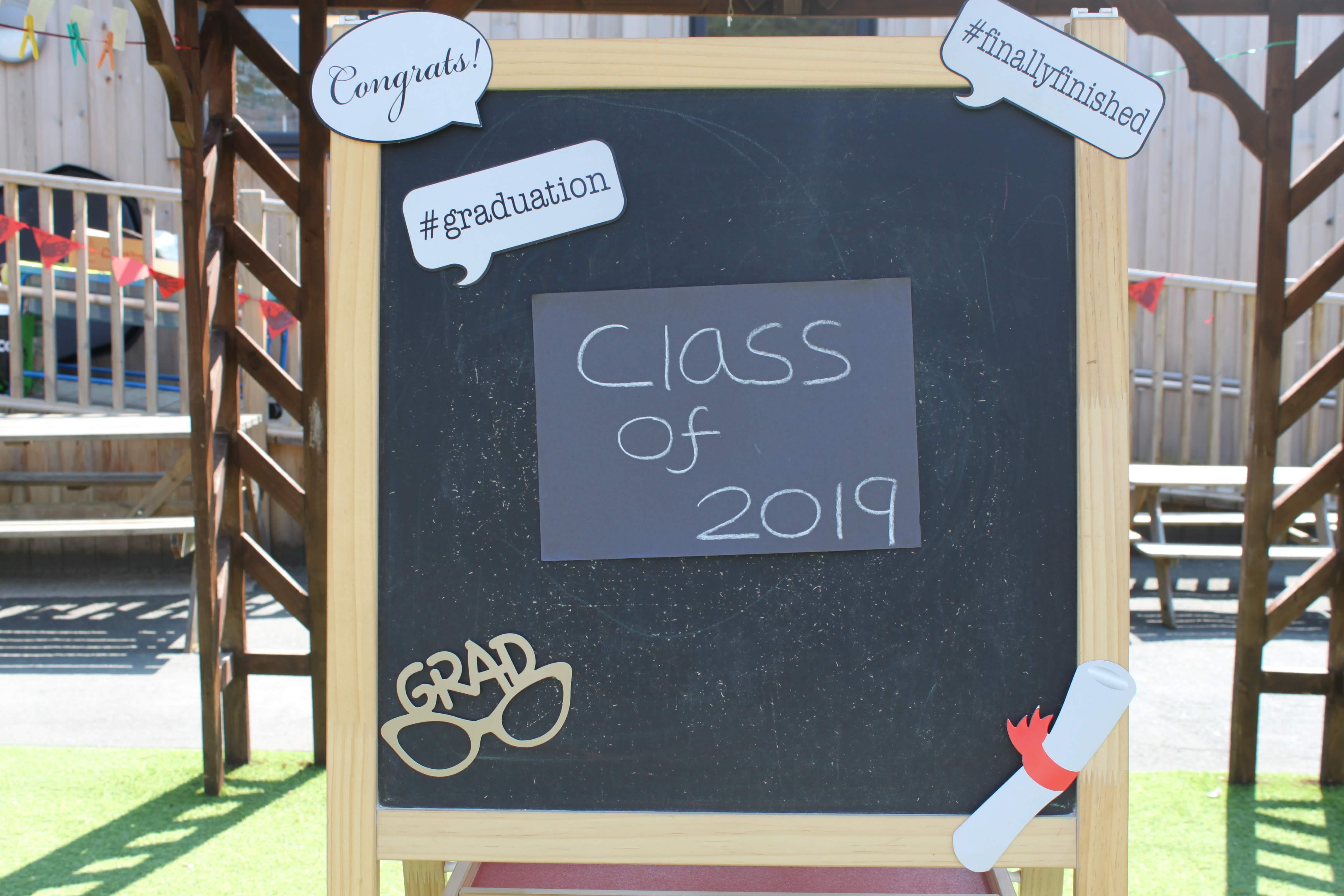 Class of 2019 chalkboard
