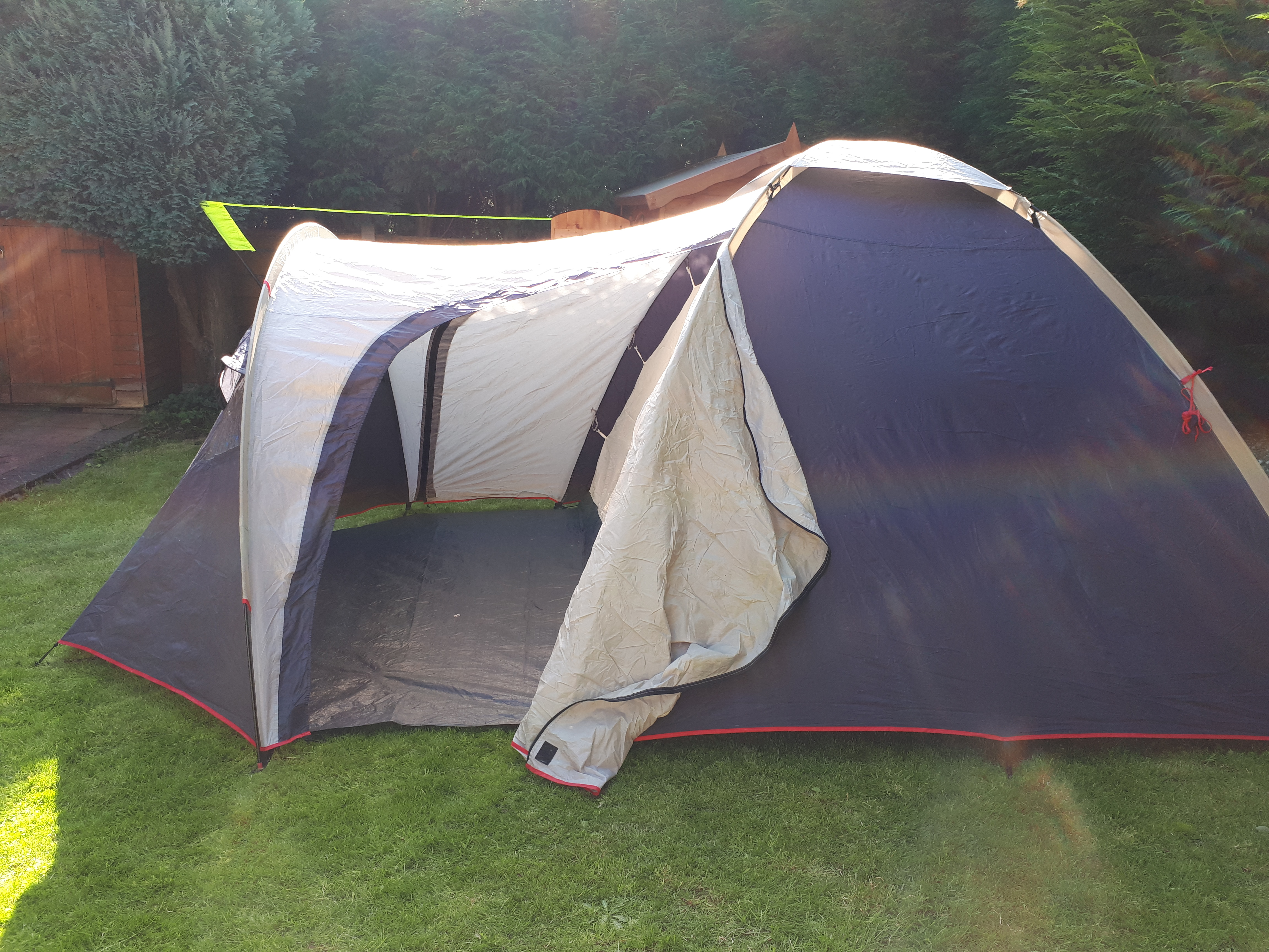 """the """"big"""" tent up in the garden"""