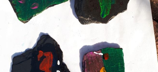 4 painted rocks
