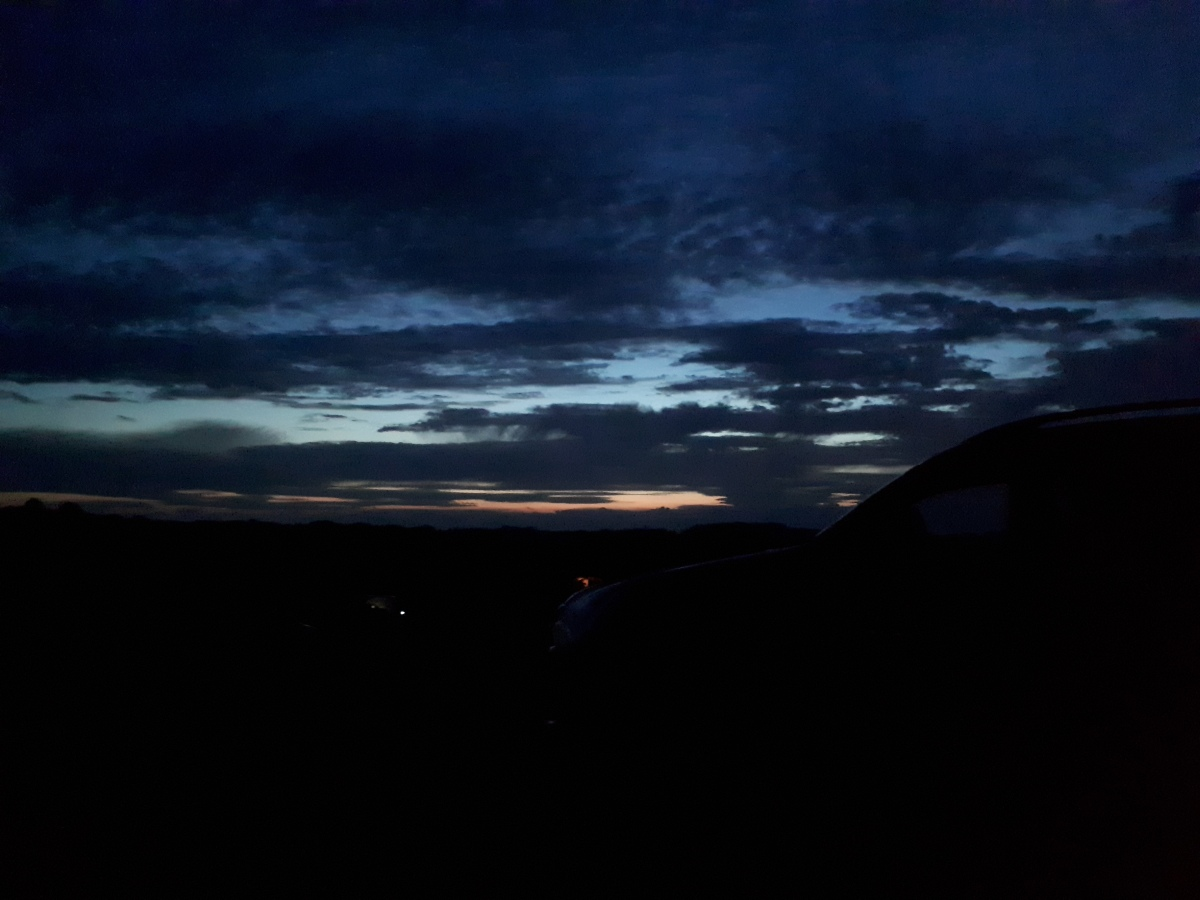 Silverstone campsite at sunset