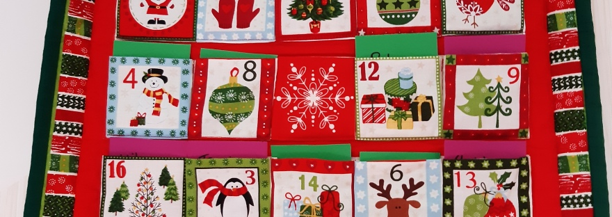 home made advent calendar of promises