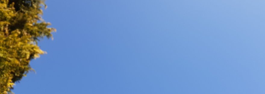 how blue can the sky be?