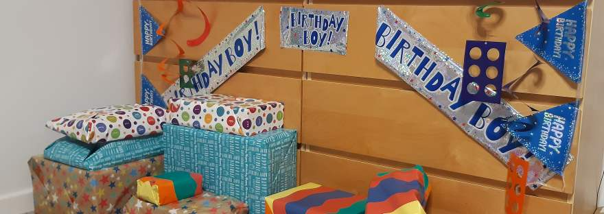 all set for small boy's birthday