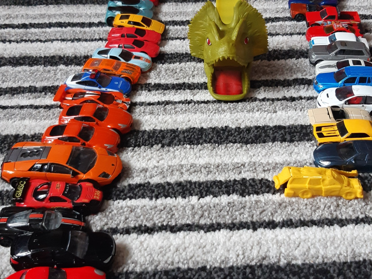 HotWheels cars and launcher
