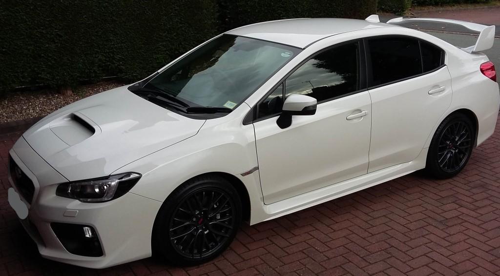 White Subaru Impreza WRX