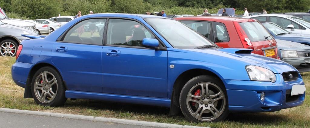 Blue blob eye Subaru Impreza WRX PPP