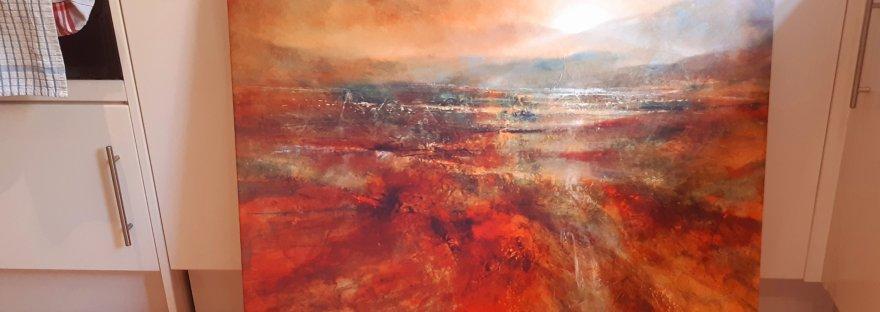 Art, canvas, sunrise, photowall