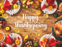 Happy Thanksgiving feast
