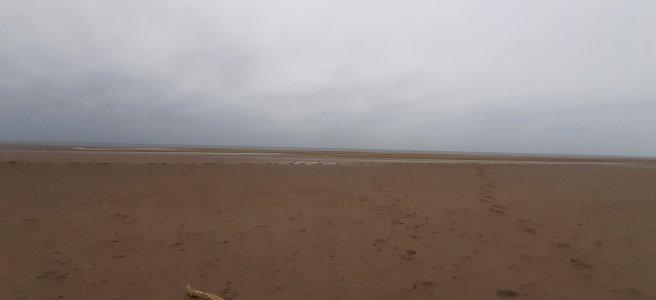 A very wet, deserted beach
