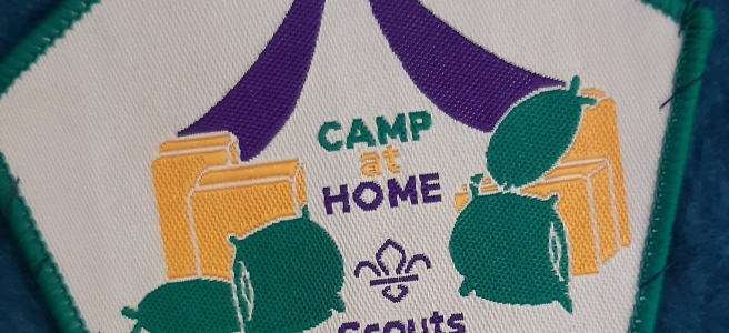Scouts camp at home badge